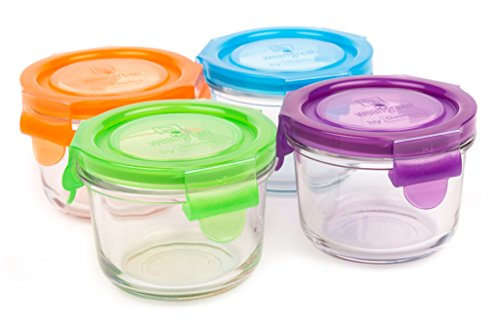 WEAN GREEN Tempered Glass Food containers, Garden Pack, 160ml
