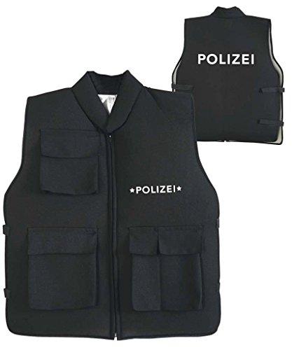Kinderkostüm Polizei Einsatzweste schwarz Gr. 152