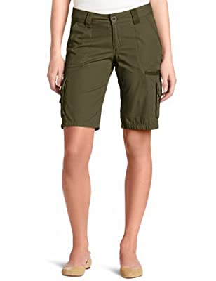 Dickies Women's 11 Inch Relaxed Cargo Short, Grape Leaf Green, 14