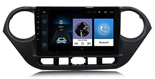 Android GPS Navegación SATNAV para Hyundai I10 Coche Estéreo Estéreo Coche Radio de automóvil 9 Pulgadas Pantalla táctil Multimedia Player