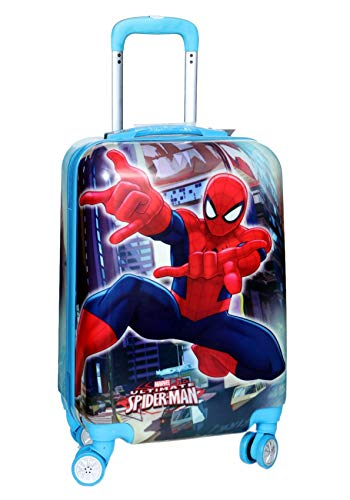 D's PARADISE Cartoon Print Spiderman 21 inches Cabin Luggage, Suitcase/Trolley Bag for Boys and Kids