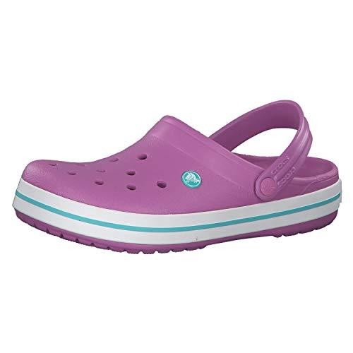 crocs Unisex-Erwachsene Crocband Clogs, Violet/White, 42/43 EU
