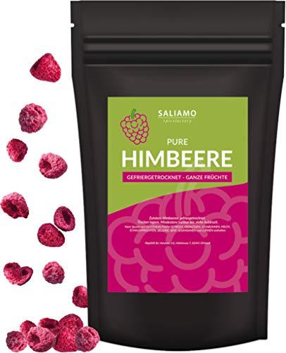 Himbeeren ganz gefriergetrocknet, ganze Frucht, Pure Frucht, wieder verschließbar, ohne Zusätze, sehr intensiver Geschmack, besonders knusprig Ideal zum naschen, für Müsli, Smoothie, als Snack (70)