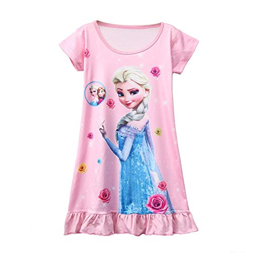 Camisón de Princesa camisón para niñas camisón de Nieve camisón de Reina de Manga...