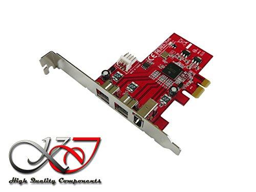 KALEA-INFORMATIQUE-Tarjeta controladora PCIe FIREWIRE 800 y 400 (Ieee1394a) (ieee3194b) chipset TI XIO2213 - 2 serie 1 puertos PCI, PCIe profesional y componentes de alta calidad y prácticos Préinstallés, para Windows, Mac y Linux, color negro