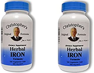 Christopher's Herbal Iron,180 Caps 2 Pack