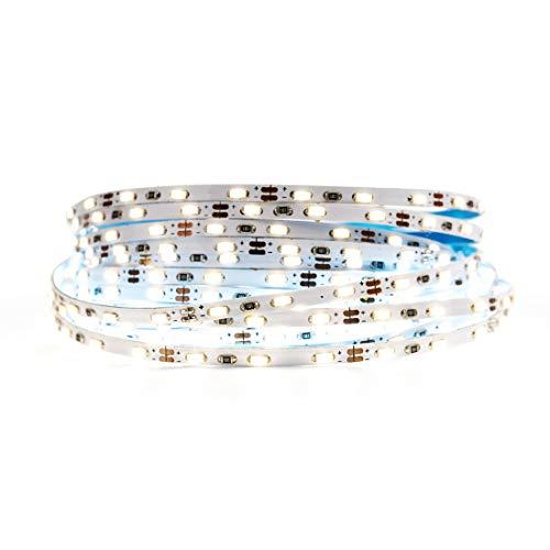 BTF-LIGHTING Natural White Light Ultra Bright Flexible 3014 LED Strip Extremely Narrow 3.0mm PCB SMD3014 90LED/m DC12V 16.4ft 5m 450LED 45W IP30 LED Tape Light