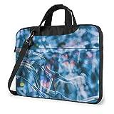 Hdadwy Rueda de Bicicleta Chrome Bell Printed Laptop Shoulder Bag, Laptop Case Bag Business Messenger Bag Maletín 15.6 Pulgadas