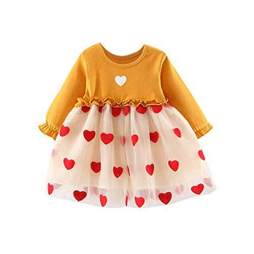 Fantastic Prices! Baby Clothes Dresses Ruched Tulle Ruffles Patchwork Love Heart Carrot Print Prince...