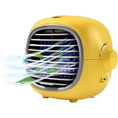 Aire Acondicionado Portatil Refrigeradores de evaporaciones Espacio personal Acondicionador de aire, mini refrigerador de aire portátil Fan de refrigeración de refrigeración Interfaz USB con control c
