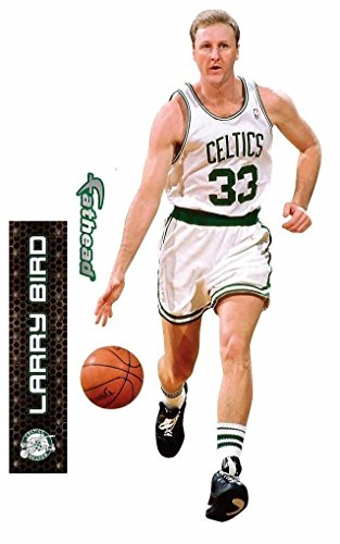 Larry Bird FATHEAD Boston Celtics Logo Official NBA Vinyl Wall Graphics 16'x8'