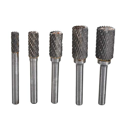 Milling Cutter Bits 5 Pieces of 1/4 Inch Carbide 6-14mm Drill Bit Rotary File Metal Machine Woodworking Cutter