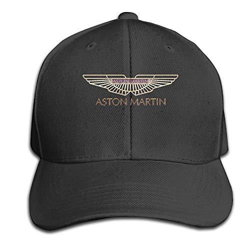LowkeyNr1 Aston Martin Logo Adjustable Peaked Baseball Caps Hats Duck Tongue Hat For Mens Womens Black Sombreros y Gorras
