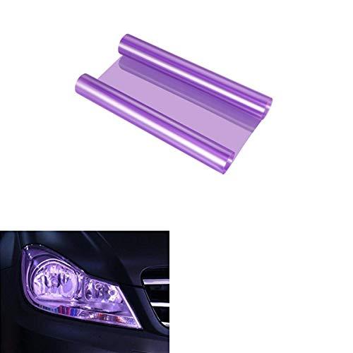 Voarge Scheinwerfer-Folie Gelb 30 * 120cm, Wasserdicht Auto Scheinwerfer Folie Tönungsfolie Nebelscheinwerfer (lila)
