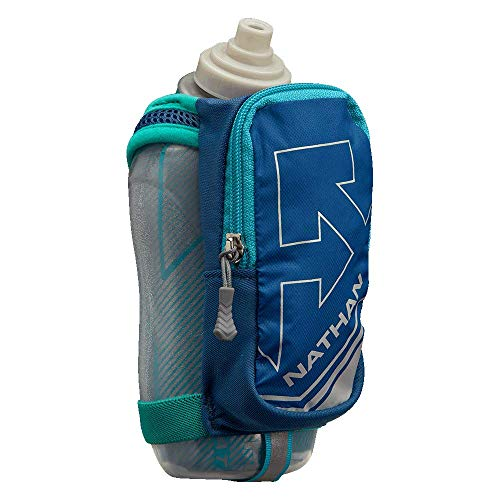 Nathan SpeedDraw Plus Insulated Flask, Handheld Running Water Bottle. Grip Free for Runners, Hiking etc