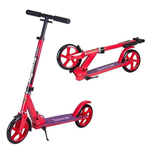 WJJ Patinetes para Niños Montar portátil al Aire Libre Kick Scooter-Adulto Vespa con Ruedas Grandes - Plegable de cercanías Vespa for Niños Jóvenes, Ajustable en Altura - Soportes 100 Kg,