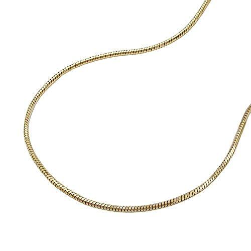 ASS 333 Gold Schlangenkette Collier Schlange Kette 42 cm 0,7 mm, diamantiert