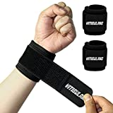 2 Pack Tennis Wrist Support,Adjustable Wristbands for Men,Wrist Brace for Working Out,Arthritis Wrist Wraps,Wrist Straps for Weightlifting,Pain Relief Carpal Tunnel,Non-Pilling, High Elasticity