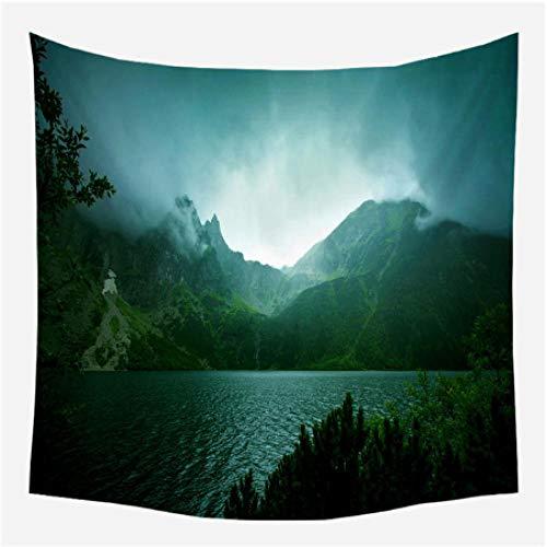 generieke tapijt nieuwe mooie muur opknoping wandtapijt bos mooie waterval hd landschap strand handdoek natuurlijke muurschildering polyester tapijt