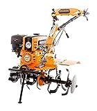 Ruris Motoculteur 8,5 CV 6 Fraises Vitesses 2AV -1AR charrue butteur Roues agraires et métal 751 KS