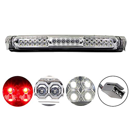 High Mount 3rd Stop Light Assemblies, Compatible with Ford 1997-2004 F150 / 2004 Heritage Third Center Cargo Reverse Rear LED Brake Light Bar Taillight (Chrome)