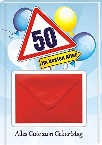 Alles Gute zum 50. Geburtstag Geldgeschenk Buch Piccolo mit Blattgold Kräuterlikör Schnäpse Zollstock Geldgeschenk für Männer und Frauen als Geburtstagsgeschenk (Alles Gute 50 mit Piccolo) - 2