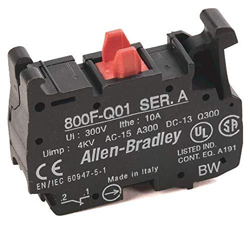 800F-Q01 | ALLEN BRADLEY 800F-Q01 CONTACT BLOCK, PLASTIC, SPRING CLAMP, 1NC CONTACT,...