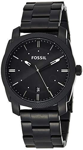 Fossil Herren Analog Quarz Uhr mit Edelstahl Armband FS4775