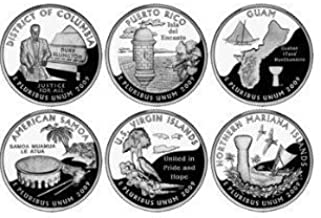 2009 P U.S. Territories & District of Columbia Quarters P Mint (6 Coins) Uncirculated