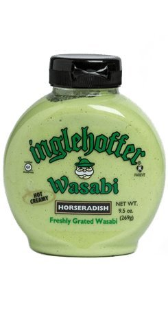 Inglehoffer Wasabi Horseradish, 9.5 Ounce Squeeze Bottle (Pack of 6)