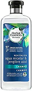 Herbal Essences Bio Renew Champú Revitalizante con Agua Micelar y Jenjibre Azul - 400 ml