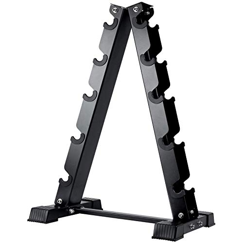 AKYEN A-Frame Dumbbell Rack Stand Only-5 Tier Weight Rack for Dumbbells (570 Pounds Weight Capacity)