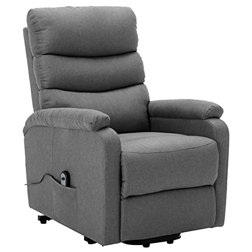 Susany Sillón reclinable de Tela Gris Claro Sillones y chaises Longues