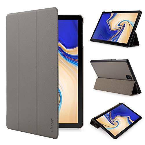iHarbort Samsung Galaxy Tab S4 10.5 Zoll Hülle Cover (2018 veröffentlicht SM-T830 / T835) - Ultra dünn Hülle Etui Schutzhülle Hülle Holder Stand mit Smart Auto Wake/Sleep Funktion, grau
