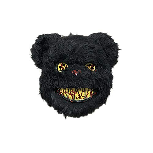 FKLMRKL Halloween-Häschen-Maske, niedliche Kaninchen-Maske, Bärenmaske, Maskerade-Maske,B