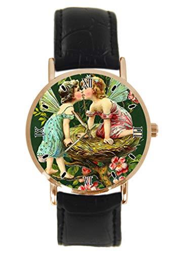 Reloj de Pulsera de Estilo Vintage con diseño de Hadas, Unisex, analógico, de Cuarzo, con...