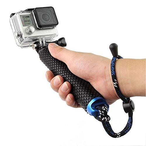 Harwerrel Extendable Aluminum Hand Grip Selfie Stick Handheld Monopod Telescopic Pole (7-19 inch) for GoPro Hero(2018) Hero 7 6 5 4 3+ 3 2 1 SJ4000 SJ5000 Xiaomi Action Cameras