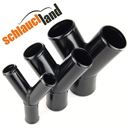Schlauchland Alu Y-Stück AD 60mm schwarz **** Alubogen Alurohr Rohrbogen Pipe Turbo Ladeluftkühler Rohr Abzweig