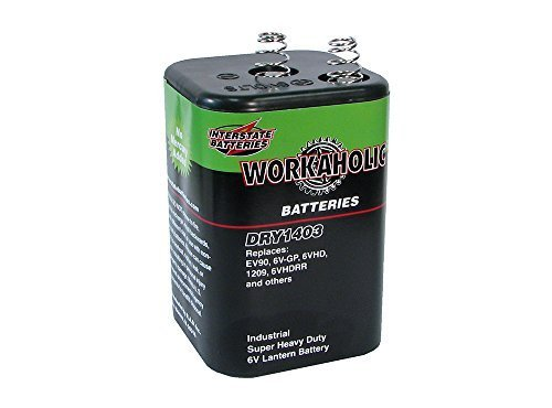 Interstate All Battery Ctr DRY1403 6V Heavy Duty Lantern Battery - Quantity 1 by INTERSTATE ALL BATTERY