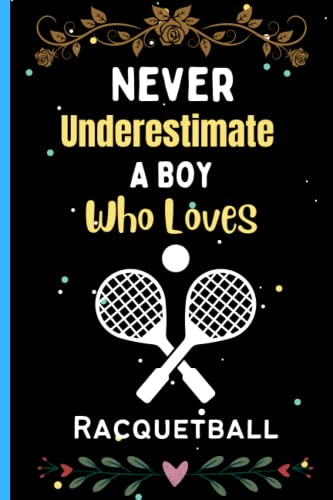Compare Textbook Prices for Never Underestimate A Boy Who Loves Racquetball: Black Lined Racquetball Journal Notebook, Cute Journal Notebook for Boys, Unique Racquetball Journal ... Birthday/Christmas Journal For Boys vol-6  ISBN 9798496620604 by Press, Jarina