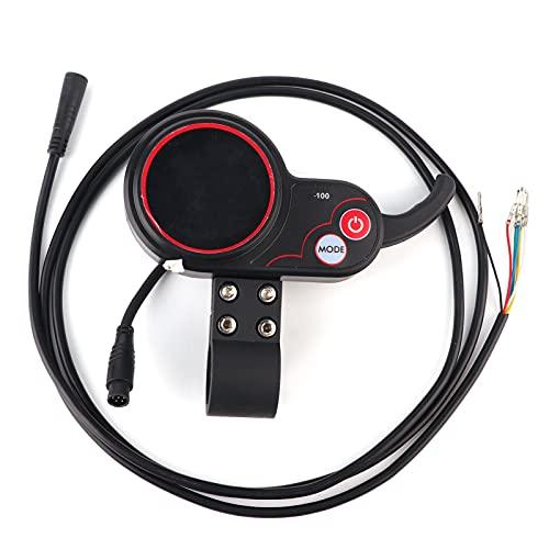 Acelerador De Pulgar para Scooter Eléctrico, Velocímetro De Acelerador De Pulgar con Pantalla LCD con Cable Impermeable para Scooter De Bicicleta Eléctrica