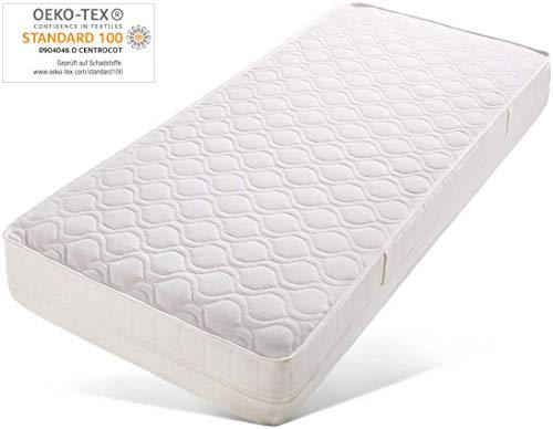 Ortho-Relax Matratze Airyform 15-90x200 cm - 15cm hoch - 7-Zonen Komfortschaumatratze - Atmungsaktiv - Rollmatratze Öko-Tex Zertifiziert - Frotteebezug - ohne KB