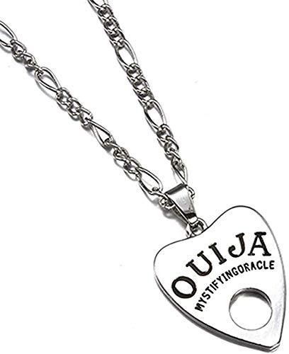 ZPPYMXGZ Co.,ltd Collar con Colgante de Moda Collar Antiguo Collar con Colgante de Letra en Forma de corazón Estilo Punk Mujer Hombre Joyería