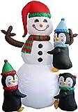 Gonfiabili di Natale Decorazioni Decorazioni gonfiabili del pupazzo di neve di Natale GUIDATO Pinguino del pupazzo di neve di natale della luce con la forcella della forcella della forcella Corda di t