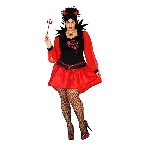 Atosa Demonia XXL Disfraces para Adulto, Rojo, Mujer