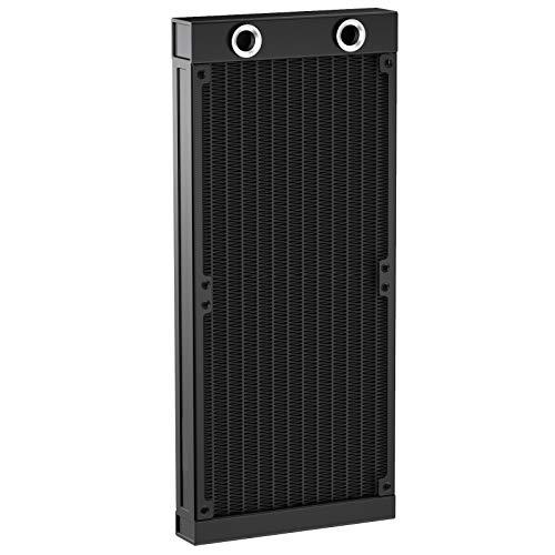CLDIY Raffreddatore ad acqua G1/4 con filettatura G1 e 12 tubi in alluminio per PC CPU sistema di raffreddamento ad acqua DC12 V 240 mm