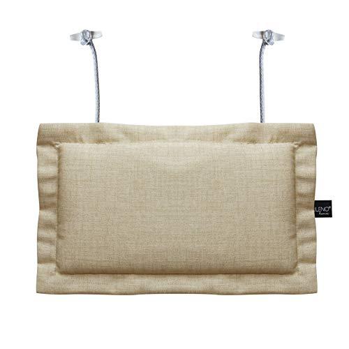 LILENO HOME Palettenkissen Set Beige - Deko-Kopfkissen 22x35 cm - Polster für Europaletten - Palettenkissen Outdoor als Sitzkissen für Palettenmöbel