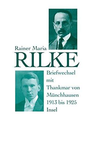 Buchseite und Rezensionen zu 'Briefwechsel mit Thankmar von Münchhausen 1913 bis 1925' von Thankmar von Münchhausen