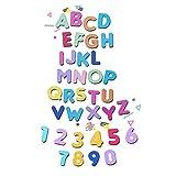 Crafting Dies Pack 2 Metallschablonen Zahlen und Buchstaben des Alphabets groß