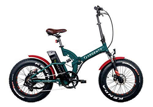 Argento Fat Foldable, E-Bike Unisex – Adulto, Verde Acqua, M